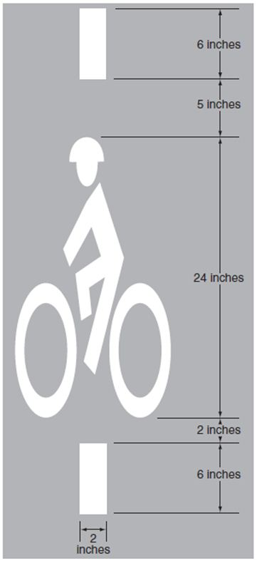 Fig. 620.2.29.7.4, Bicycle Detector Pavement Marking (MUTCD Fig. 9C-7)