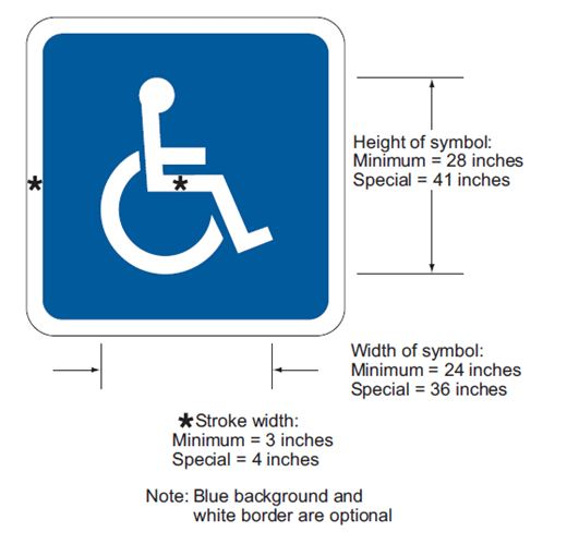 Fig. 620.2.20.2, International Symbols of Accessibility Parking Space Marking