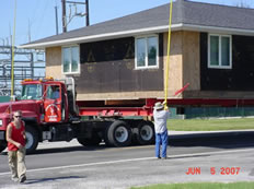 Moving a house for a four-lane project