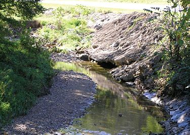 Grouted rip-rap is not recommended for streambank repair.