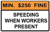 WORK ZONE FINE (sign)