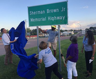 Providence Rd. between Bus. Loop 70 and I-70 in Columbia was designated the Sherman Brown Jr. Memorial Highway to honor the businessman and role model who died last year.
