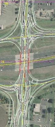 Diverging Diamond Interchange Animation