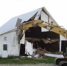 Shelby Co. barn removed for four-laning project