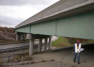 Field inspection of existing bridge coatings