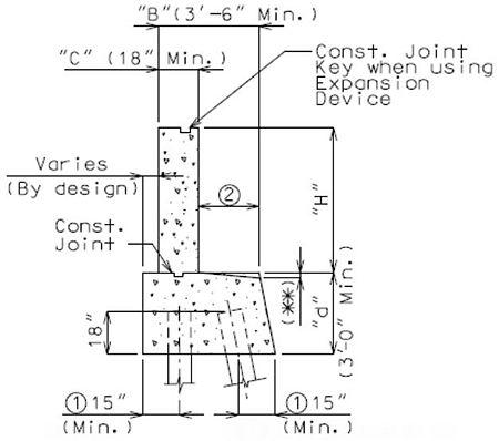 751 34 Concrete Pile Cap Non Integral End Bents