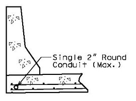 Section of Single Conduit in Slab