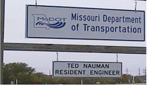 The resident engineer should requisition a sign to establish the identity as a MoDOT project office